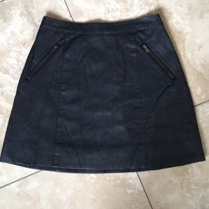 🎁3/30!! Hollister genuine leather mini skirt